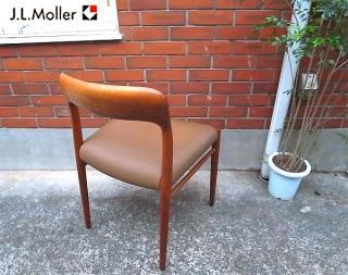 デンマーク J.L.Moller No.75 チーク材チェア �