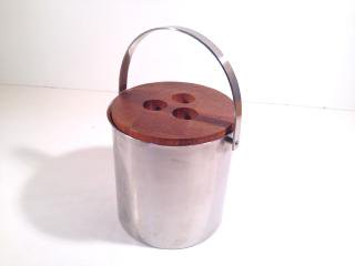 ステルトン/ STELTON  Teak Wood × Stainless Ice Bucket  アルネ・ヤコブセン
