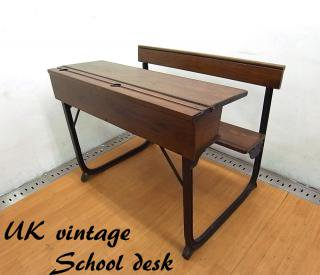 60-70s UKビンテージ スクールデスク チェア ●