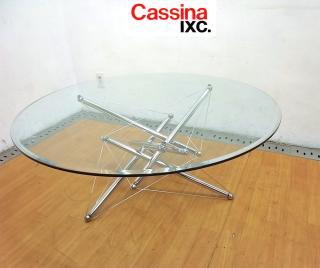 ● 名作 CassinaIXC カッシーナ 713 ガラステーブル 定価43万