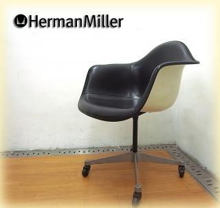 Herman Miller / ハーマンミラー ◇ 60's〜 ヴィンテージ アームシェルチェア 希少ナウガレザーPACC