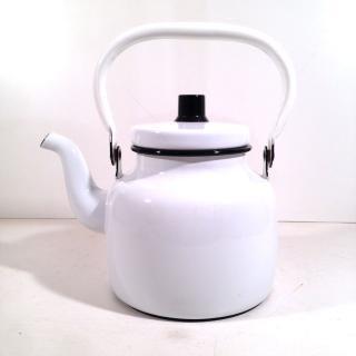 ★Kockums コクムス Vintage Enamel Kettle ホーロー ケトル (White)