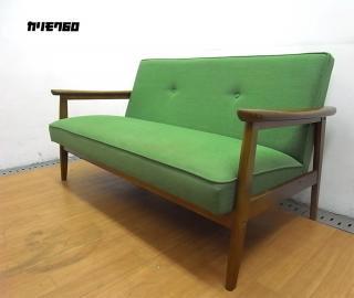 ● カリモク60  Karimoku  K チェア  2シーター  タープグリーン