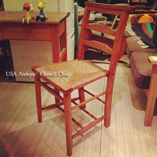 ☆USA Antique Church Chair