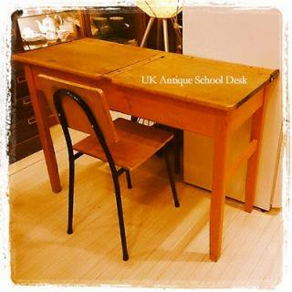 ☆UK Antique School Desk