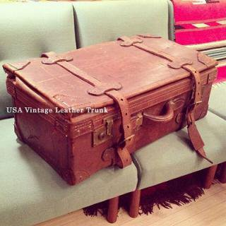 ☆USA Vintage Leather Trunk