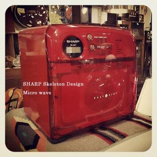 ☆ SHARP  Skeleton Design  Microwave RE-HP1