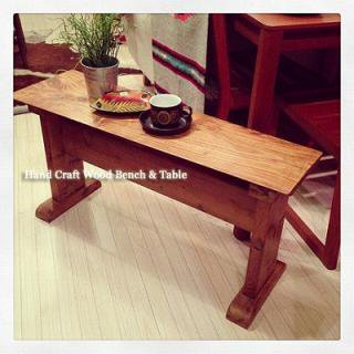 ☆Hand Craft  Wood Bench & Table