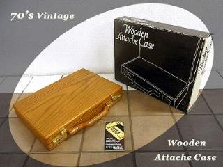◇ 70's Vintage 「 Wooden Attache / Briefcase 」