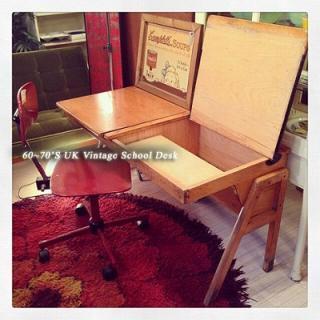 ☆ 60~70'S UK Vintage   School Desk / 60年代〜70年代 イギリスビンテージ UKビンテージ スクールデスク 学校机 学習机