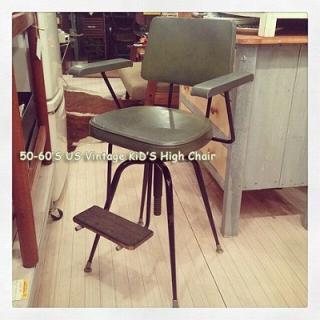 ☆ 50〜60'S USA Vintage Kid's High Chair / 50年代〜60年代 アメリカンビンテージ キッズハイチェア