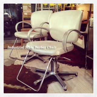 ☆ Industrial Style  Barber Chair / インダストリアルスタイル バーバーチェア 美容師椅子 美容院の椅子