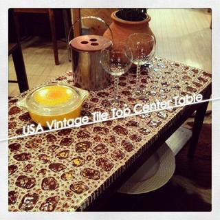 ☆ Vintage USA Tile Top Center Table / ビンテージアメリカ タイルトップセンターテーブル
