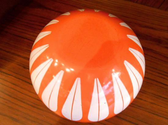 ◎Cathrineholm キャサリンホルム ロータス ボウル 24cm オレンジ×ホワイト