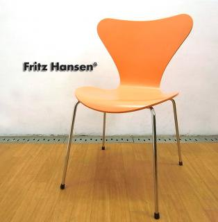 フリッツハンセン ◇ Fritz Hansen  90's 廃盤希少カラー!  『 SEVEN CHAIR / セブンチェア ( ピーチ/ラッカー )』