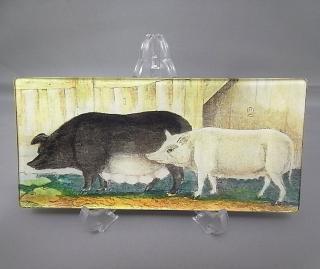 ■ ジョンデリアン/JOHN DERIAN 豚/Pig デコパージュプレート