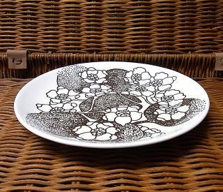 ● グスタフスベリ/GUSTAVSBERG  エマ/EMMA  プレート17cm ブラウン 美品