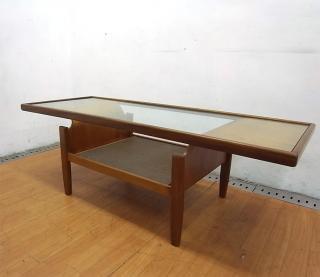 エベネゼル・グーム Ebenezer Gomme ジープラン G-plan ビンテージ ガラストップコーヒーテーブル ●