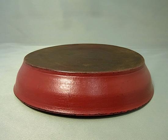 ● 赤木明登 漆パン皿 赤 B 輪島塗
