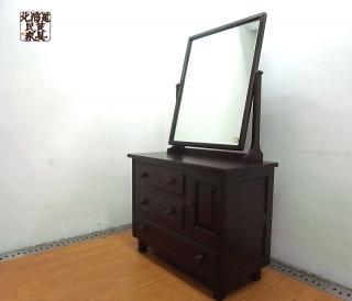 ● 北海道民芸家具 樺 無垢材 ドレッサーチェスト 鏡台