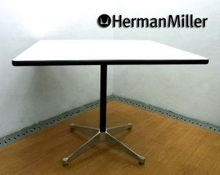 U.S.A Hermanmiller / ハーマンミラー社 ★ 70's ヴィンテージ 『 イームズ ・ コントラクトベース ・ スクエアテーブル ( 白×黒 ) 』