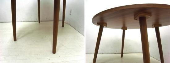 ● unico ウニコ Albero アルベロ カフェテーブル ウォールナット材