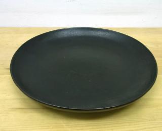 ● 赤木明登 希少 七寸皿/22cm (凸型) 黒 輪島塗
