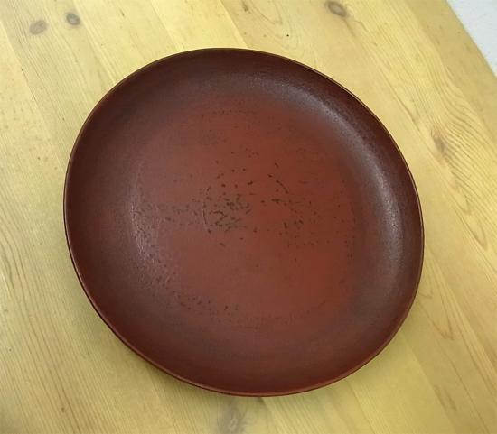 ● 赤木明登 希少 七寸皿/22cm (凸型) 赤 輪島塗