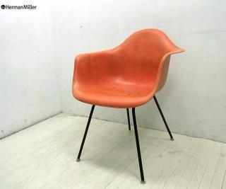 HermanMiller / ハーマンミラー ★ 60's Vintage アームシェル + Hベース(オリジナル)= DAX  ★ 『 アームシェルチェア (オレンジカラー) 』