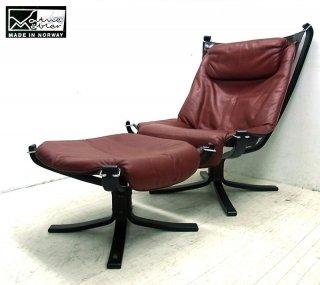 ● VATNE / バットネ社『  Falcon Chair / ファルコンチェア + Ottoman / オットマン 』