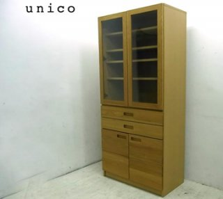 ■ unico ウニコ  HUTTE ヒュッテ オーク材 カップボード