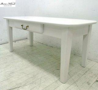 ● モモナチュラル CIELE/more リビングテーブル パイン材 ホワイト