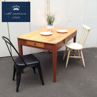 U.Kメイド ★ old maison / オールドメゾン ★ Vintage 『 Work Table / Dining Table (  ワークテーブル / ダイニングテーブル ) 』