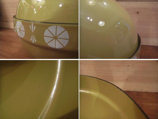 ■ Cathrine holm キャサリンホルム フォンデュ鍋セットの鍋のみ オリーブグリーン レア