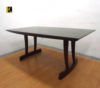 ■飛騨産業 キツツキ 円空 ダイニングテーブル 楢材 佐々木敏光デザイン