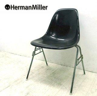 5〜70's ヴィンテージ ★ U.S.A Hermanmiller / ハーマン・ミラー ★ 希少ブラックシェル ★ 2ndモデル 『 サイドシェルチェア ( スタッキングベース = DSS )』