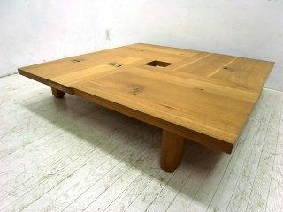 ● 飛騨産業 キツツキ 森のことば フロアテーブル w120cm 楢材