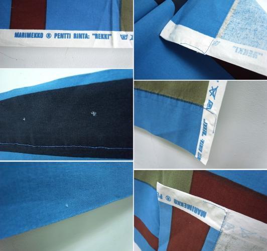 """●マリメッコ/marimekko  ヴィンテージファブリック """"REKKI"""" 133×155cm タペストリー"""