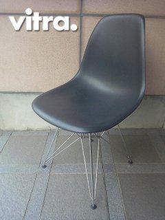 Swiss Vitra / 廃番 ヴィトラ社製 ★ C&R.Eames / イームズデザイン ★ 『 サイドシェルチェア ( エッフェルベースタイプ=DSR ) ブラック 』