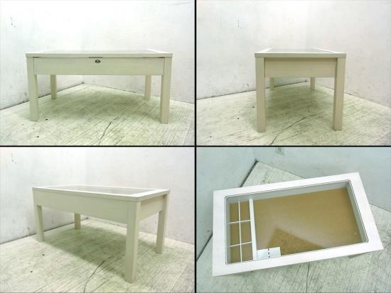 ● モモナチュラル CIELE コレクションテーブル パイン材 ホワイト