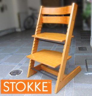 Norway STOKKE A.S / ストッケ社 ★ ベビーチェア / ステップアップチェア ★ 『 TRIPP TRAPP / トリップ トラップ 』 ★ 旧型・チェリー �