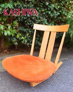 ■柏木工 KASHIWA 楢材 オーク材 ロッキング 座椅子
