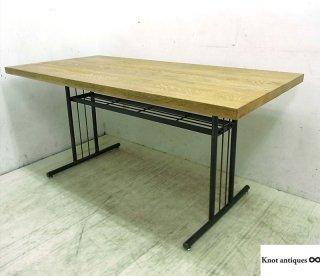 ● ノットアンティークス グリットテーブル オーク無垢材 鉄脚
