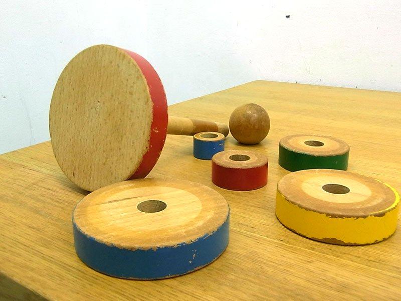 カイボイスン Kay Bojesen  希少 ビンテージ玩具 リングピラミッド 知育玩具 ●
