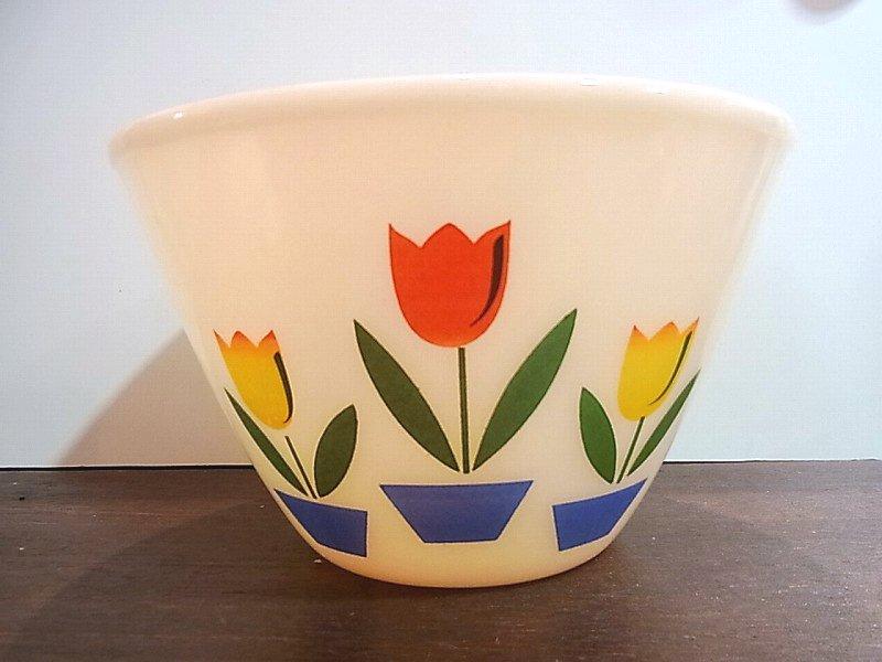 ◇ FIRE KING/ファイヤーキング Tulip mixing bowl  チューリップ ボウル ビンテージ �