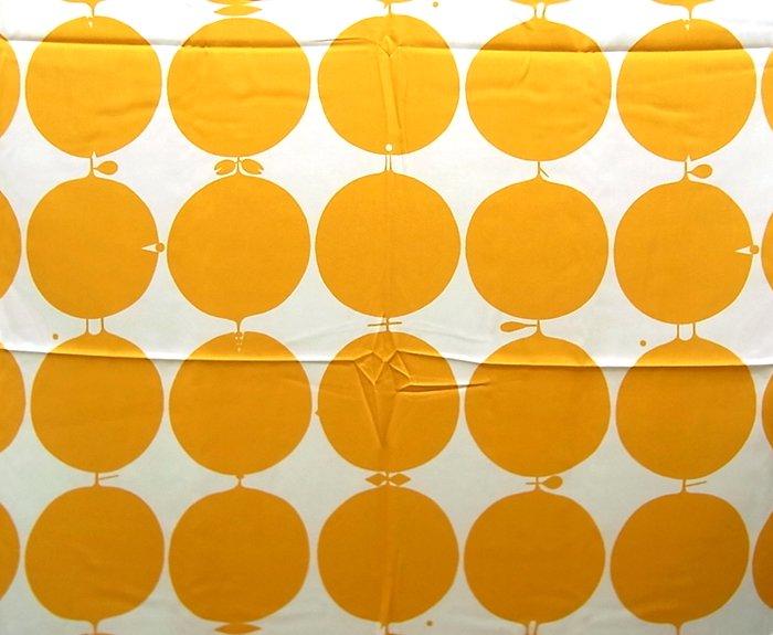 """◇DESIGN HOUSE Stockholm リンドベリ・デザインの生地 """"Tallyho"""" オレンジ 2m50cm"""