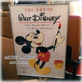 ◎経堂店 THE ART OF WALT DISNEY ミッキーマウス シルクスクリーン 復刻ポスター