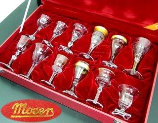 ●Moser/モーゼル クリスタルグラスセット 12種12客 未使用箱付