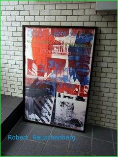 ■Robert Rauschenberg 『Night Shades & Urban Bourbons 』アートポスター 額装 ラウシェンバーグ