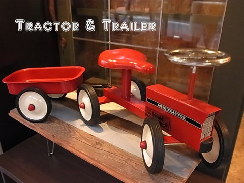 ■Tractor&Trailre Ride on Toy(トラクターとトレーラーの子供用乗り物)